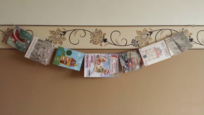 Unsere Weihnachtskartenkette