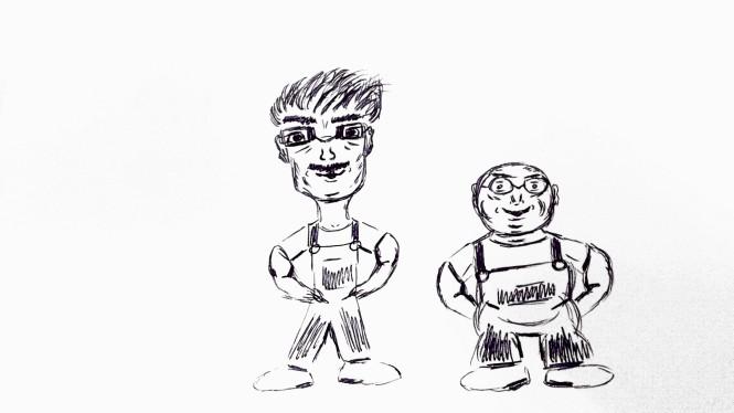 Laurel und Hardy auf Berlinerisch