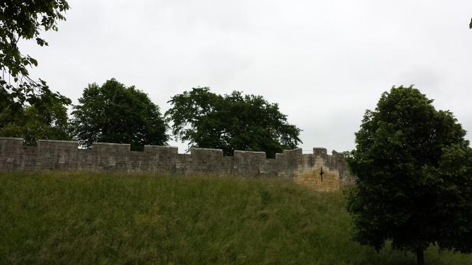 Die Stadtmauer von York.