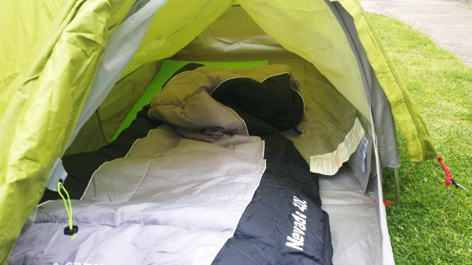 Mein Schlafplatz für drei abenteuerliche Wochen.