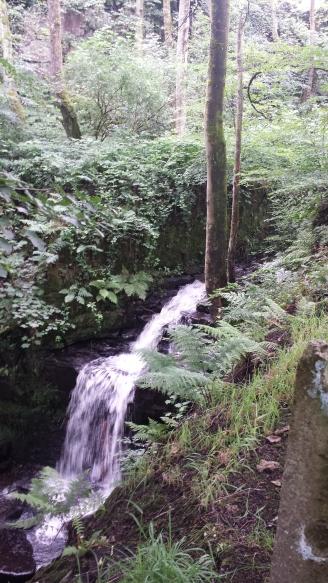 Versteckter Wasserfall.