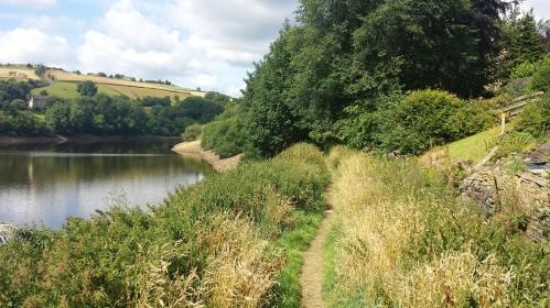 und am Reservoir entlang.